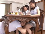 Nasty Father In Law Abuse His Daughter In Law Under The Table During The Dinner