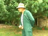 Old Gardener Called Off Day With Group Fucking