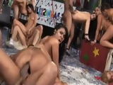 After Carneval Party Orgy in Brazil