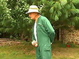 Grandpa Joins Group Sex In The Garden