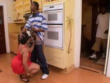 Guy Catches His Big Bubble Ass Black Mamma Fucking His Best Friend In Kitchen