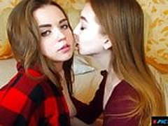 My heart beats fast when I saw two young beauties tongue kis