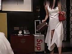 Beautiful young woman seduces housekeeper