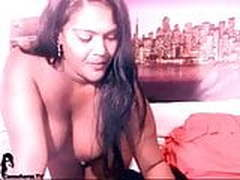 Cam show with hot indian BBW