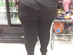Black BBW Round Phatty in tights 6