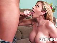 Milf blonde with demanding tits
