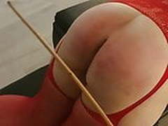 Forced orgasm & spanking with Mr happy whacks