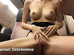 Masturbating in a public train & playing next to people