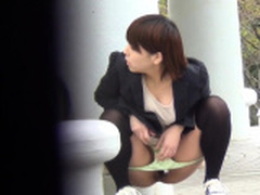 Cute asian women piss