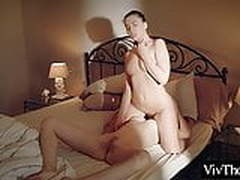 Horny lesbians eat each others hot, wet pussy