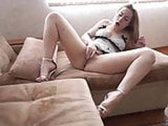 Girl Play Pussy and Female Orgasm after Waking Up