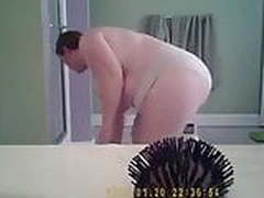 Bbw out of shower!