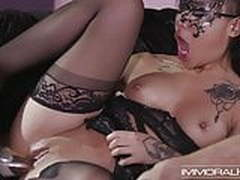 Tattooed babes are part of sensual group sex adventure
